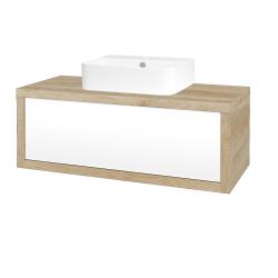 Dreja - Kúpeľňová skriňa STORM SZZ 100 (umývadlo JOY 3) - D15 Nebraska / L01 Bílá vysoký lesk (218164)