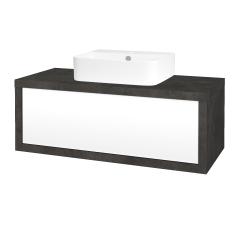 Dreja - Kúpeľňová skriňa STORM SZZ 100 (umývadlo JOY 3) - D16  Beton tmavý / L01 Bílá vysoký lesk (218171)