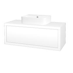 Dreja - Kúpeľňová skriňa STORM SZZ 100 (umývadlo JOY 3) - M01 Bílá mat / L01 Bílá vysoký lesk (218218)