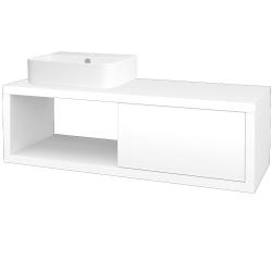 Dreja - Kúpeľňová skriňa STORM SZZO 120 (umývadlo JOY 3) - M01 Bílá mat / L01 Bílá vysoký lesk / Levé (219383)