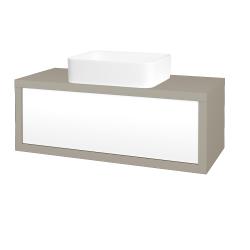 Dreja - Kúpeľňová skriňa STORM SZZ 100 (umývadlo Joy) - L04 Béžová vysoký lesk / L01 Bílá vysoký lesk (251437)