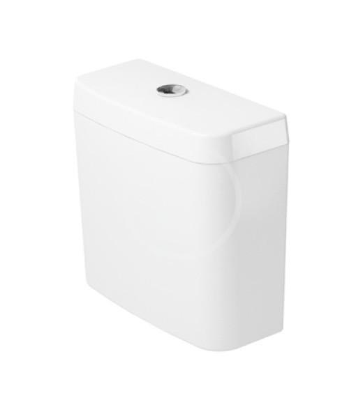 DURAVIT - D-Code Splachovací nádrž 385x170 mm, připojení vpravo nebo vlevo, alpská bílá (0940000004)