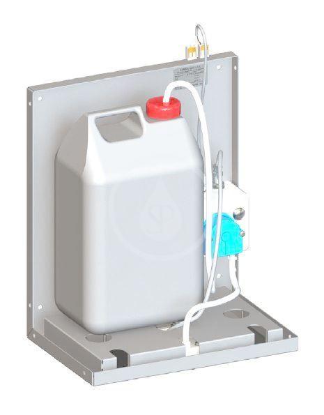 SANELA - Nerezové doplňky Nástenný dávkovač mydla na umiestnenie za zrkadlo, nerezový SLZN 84A