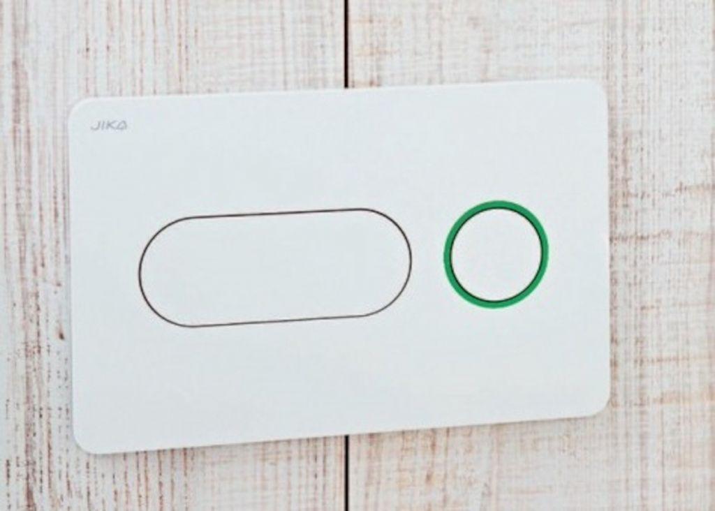 JIKA - Modul Ovládacie tlačidlo PL8, Dual Flush, biela/zelená (H8936460000001)