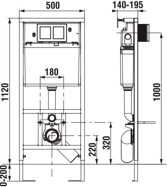 predstenový inštalačný systém bez tlačidla + WC CERSANIT ARTECO CLEANON + SEDADLO (H895652 X AT1)