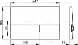 ALCAPLAST  Renovmodul - predstenový inštalačný systém s chrómovým tlačidlom M1721 + WC JIKA TIGO + SEDADLO duraplastu RÝCHLOUPÍNACIE (AM115/1000 M1721 TI1), fotografie 18/10
