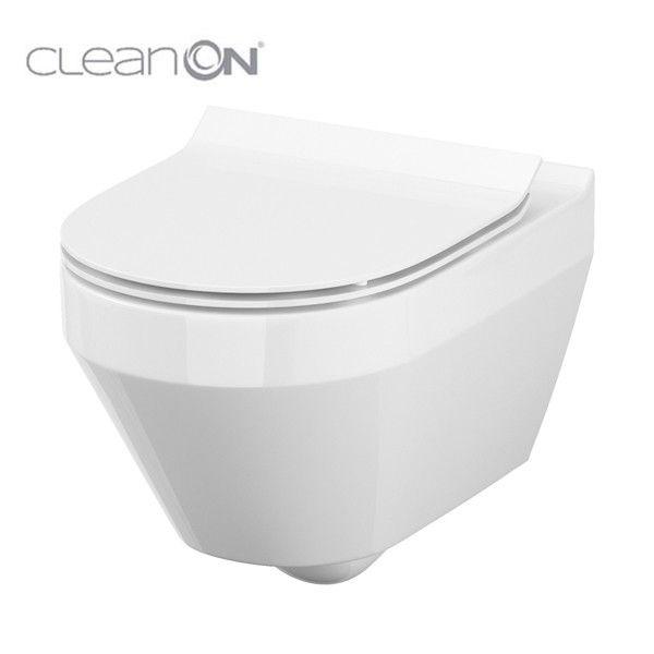 predstenový inštalačný systém bez tlačidla + WC CERSANIT CLEANON CREA OVÁL + SEDADLO (H895652 X CR1)