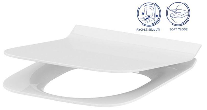 predstenový inštalačný systém bez tlačidla + WC CERSANIT CLEANON CREA štvorec + SEDADLO (H895652 X CR2)