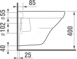 LAUFEN Podomít. systém LIS TW1 SET s chrómovým tlačidlom + WC JIKA TIGO + SEDADLO duraplastu RÝCHLOUPÍNACIE (H8946630000001CR TI1), fotografie 10/10