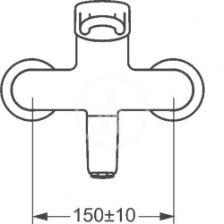 HANSA - Medipro Páková umývadlová nástenná batéria, chróm (02552205), fotografie 2/2