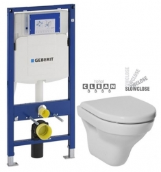 GEBERIT Duofix bez ovládacej dosky + WC JIKA TIGO + SEDADLO duraplastu SLOWCLOSE (111.300.00.5 TI2)