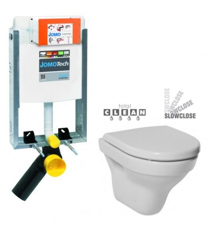 JOMO modul pre zamurovanie bez sedátka + WC JIKA TIGO + SEDADLO duraplastu SLOWCLOSE (164-14600479-00 TI2)