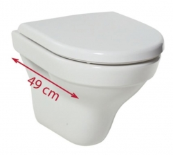 JOMO modul pre zamurovanie bez sedátka + WC JIKA TIGO + SEDADLO duraplastu SLOWCLOSE (164-14600479-00 TI2), fotografie 18/12