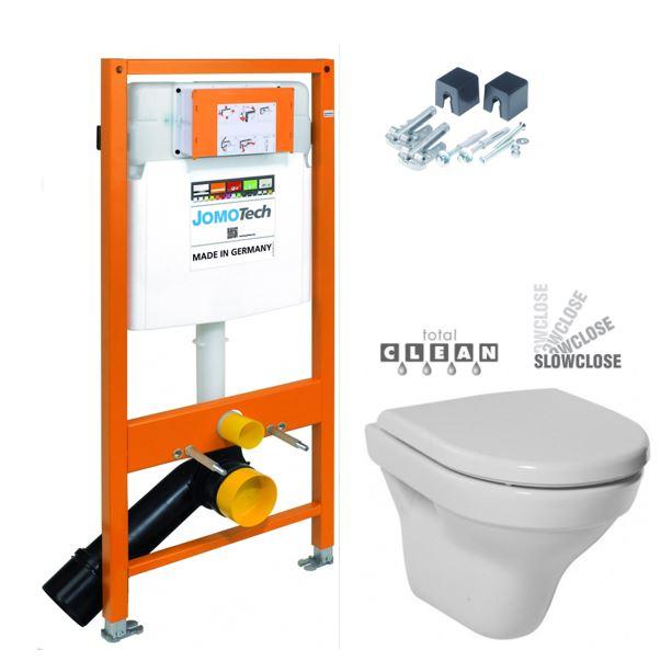 JOMOTech modul pre závesné WC bez sedátka + WC JIKA TIGO + SEDADLO duraplastu SLOWCLOSE 174-91100700-00 TI2