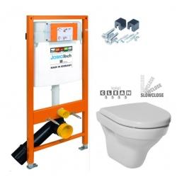 JOMOTech modul pre závesné WC bez sedátka + WC JIKA TIGO + SEDADLO duraplastu SLOWCLOSE (174-91100700-00 TI2)