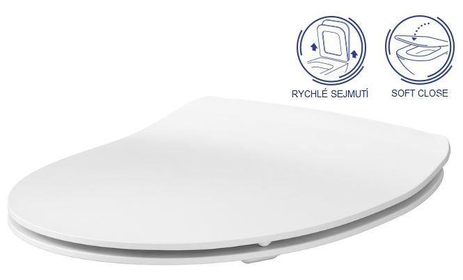 predstenový inštalačný systém bez tlačidla + WC CERSANIT CLEANON MODUO + SEDADLO (H895652 X MO1)