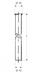 SCHELL - Měděné trubky Medená rúrka priemer 16mm, chróm (497340699), fotografie 2/1