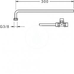 HANSA - Minimat Pripojovacie medené rúrky, chróm (66380100), fotografie 2/1