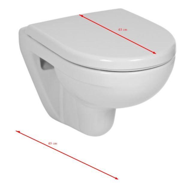 predstenový inštalačný systém bez tlačidla + WC JIKA LYRA PLUS 49 + SEDADLO duraplastu (H895652 X LY3)