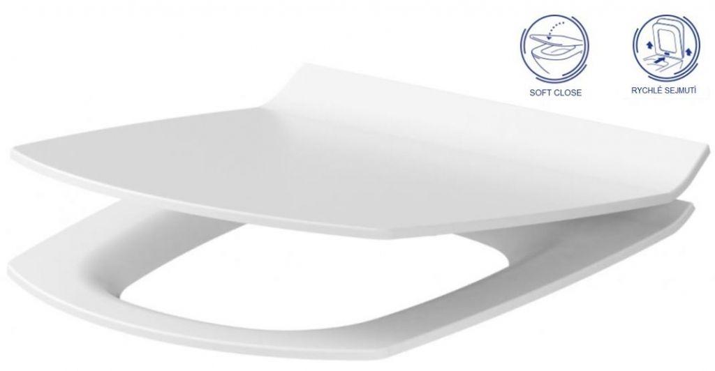 predstenový inštalačný 8 cm systém bez tlačidla + WC CERSANIT CLEANON CARINA + SEDADLO (H894652 X CA3)