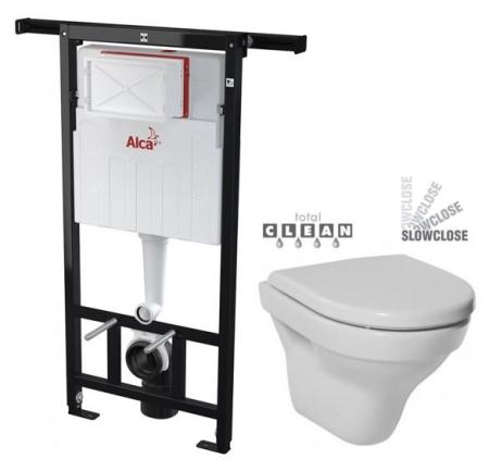 ALCAPLAST  Jádromodul - predstenový inštalačný systém bez tlačidla + WC JIKA TIGO + SEDADLO duraplastu SLOWCLOSE (AM102/1120 X TI2)