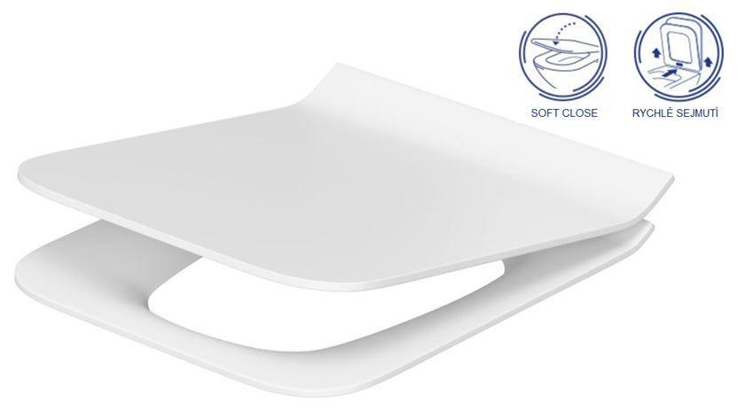 predstenový inštalačný 8 cm systém bez tlačidla + WC CERSANIT CLEANON COMO + SEDADLO (H894652 X CO1)