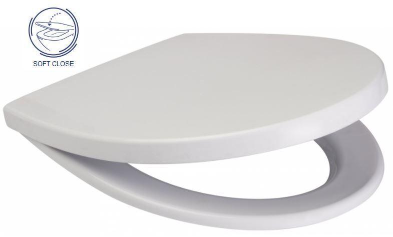 predstenový inštalačný 8 cm systém bez tlačidla + WC CERSANIT DELFI + SOFT SEDADLO (H894652 X DE2)