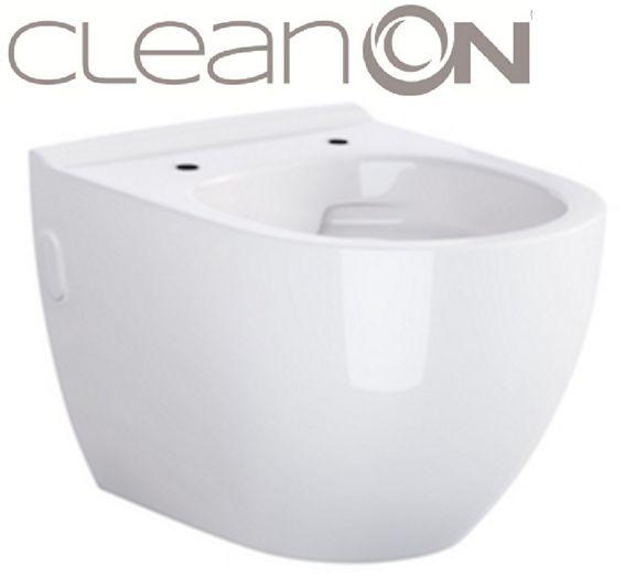 predstenový inštalačný 8 cm systém bez tlačidla + WC CERSANIT ZEN CLEANON + SEDADLO (H894652 X HA1)