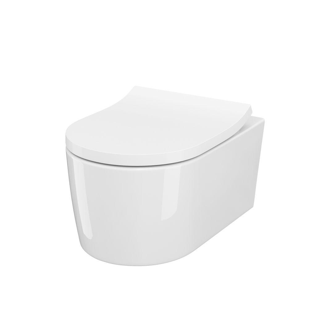 predstenový inštalačný 8 cm systém bez tlačidla + WC CERSANIT INVERTO + SEDADLO duraplastu SOFT-CLOSE (H894652 X IN1)