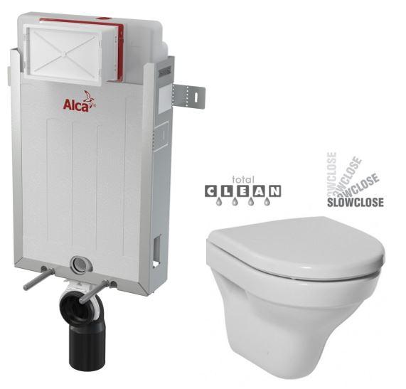 ALCAPLAST Renovmodul - předstěnový instalační systém bez tlačítka + WC JIKA TIGO + SEDÁTKO DURAPLAST SLOWCLOSE (AM115/1000 X TI2)