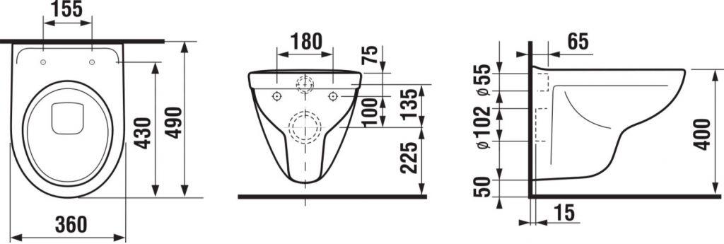 predstenový inštalačný 8 cm systém bez tlačidla + WC JIKA LYRA PLUS 49 + SEDADLO duraplastu (H894652 X LY3)