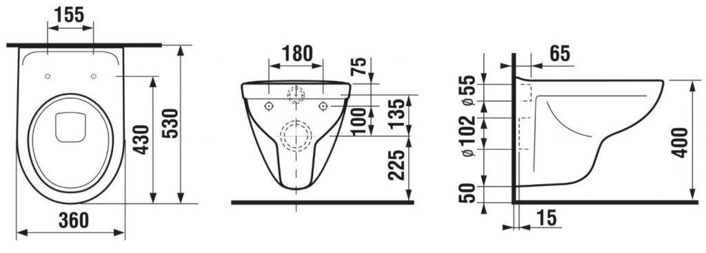 predstenový inštalačný 8 cm systém bez tlačidla + WC JIKA LYRA PLUS + SEDADLO duraplastu SLOWCLOSE (H894652 X LY5)