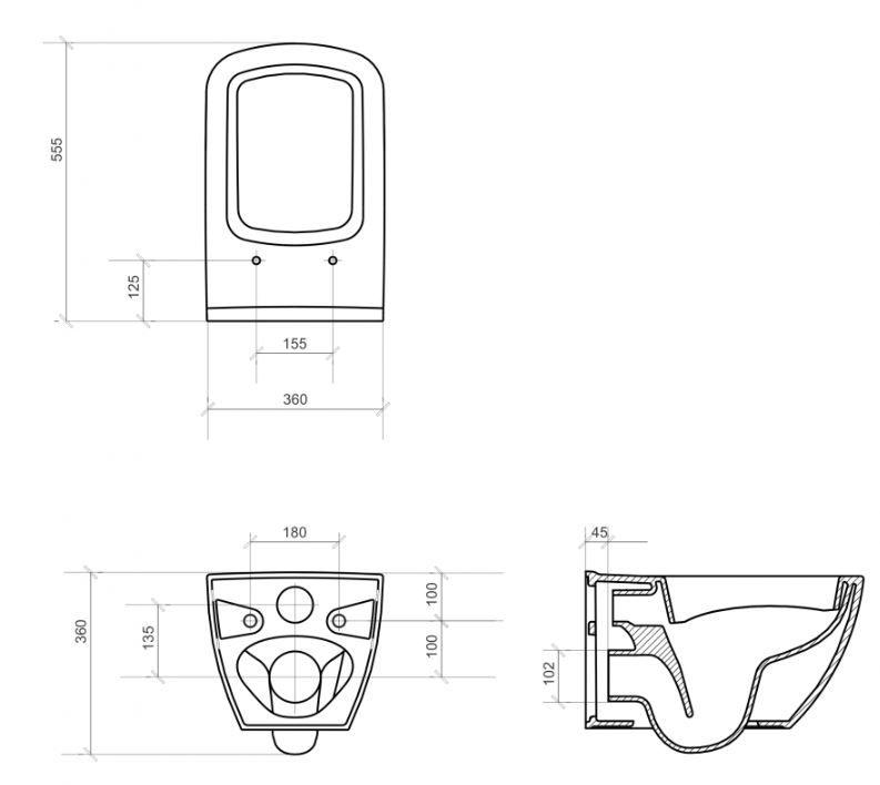 predstenový inštalačný 8 cm systém bez tlačidla + WC CERSANIT VIRGO CLEANON + SEDADLO (H894652 X ME1)