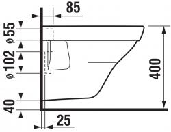 LAUFEN Rámový podomietkový modul CW1 SET s chrómovým tlačidlom + WC JIKA TIGO + SEDADLO duraplastu SLOWCLOSE (H8946600000001CR TI2), fotografie 8/13