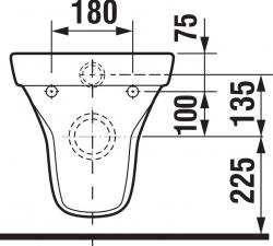 LAUFEN Rámový podomietkový modul CW1 SET s chrómovým tlačidlom + WC JIKA TIGO + SEDADLO duraplastu SLOWCLOSE (H8946600000001CR TI2), fotografie 4/13