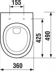 LAUFEN Rámový podomietkový modul CW1 SET s chrómovým tlačidlom + WC JIKA TIGO + SEDADLO duraplastu SLOWCLOSE (H8946600000001CR TI2), fotografie 10/13
