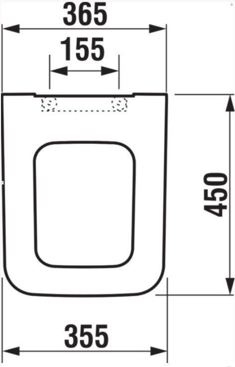 predstenový inštalačný 8 cm systém bez tlačidla + WC JIKA PURE + SEDADLO SLOWCLOSE duraplast (H894652 X PU2)