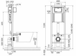 CERSANIT nádržka AQUA 02 bez tlačidla + WC JIKA TIGO + SEDADLO duraplastu SLOWCLOSE (S97-063 TI2), fotografie 20/11