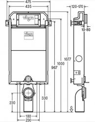 VIEGA Presvista modul PURE pre WC vrátane tlačidla Style 20 bielej + WC JIKA TIGO + SEDADLO duraplastu SLOWCLOSE (V771928 STYLE20BI TI2), fotografie 30/15