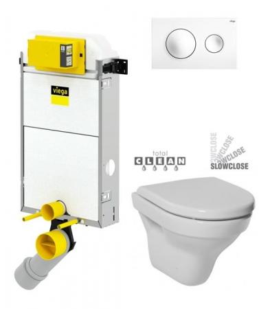 VIEGA Presvista modul PURE pre WC vrátane tlačidla Style 20 bielej + WC JIKA TIGO + SEDADLO duraplastu SLOWCLOSE (V771928 STYLE20BI TI2)