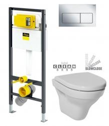 VIEGA Presvista modul DRY pre WC vrátane tlačidla Life5 CHROM + WC JIKA TIGO + SEDADLO duraplastu SLOWCLOSE (V771973 LIFE5CR TI2)