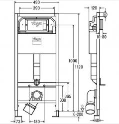 VIEGA Presvista modul DRY pre WC vrátane tlačidla Style 20 bielej + WC JIKA TIGO + SEDADLO duraplastu SLOWCLOSE (V771973 STYLE20BI TI2), fotografie 32/16