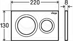 VIEGA Presvista modul DRY pre WC vrátane tlačidla Style 20 bielej + WC JIKA TIGO + SEDADLO duraplastu SLOWCLOSE (V771973 STYLE20BI TI2), fotografie 8/16