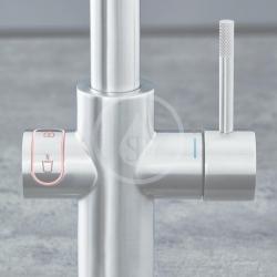 GROHE - Red Drezová batéria Duo s ohrevom vody a filtráciou, zásobník L, supersteel (30325DC1), fotografie 6/8