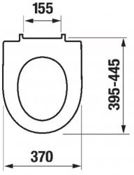 LAUFEN Podomít. systém LIS TW1 SET s bielym tlačidlom + WC JIKA TIGO + SEDADLO duraplastu RÝCHLOUPÍNACIE (H8946630000001BI TI1), fotografie 18/10