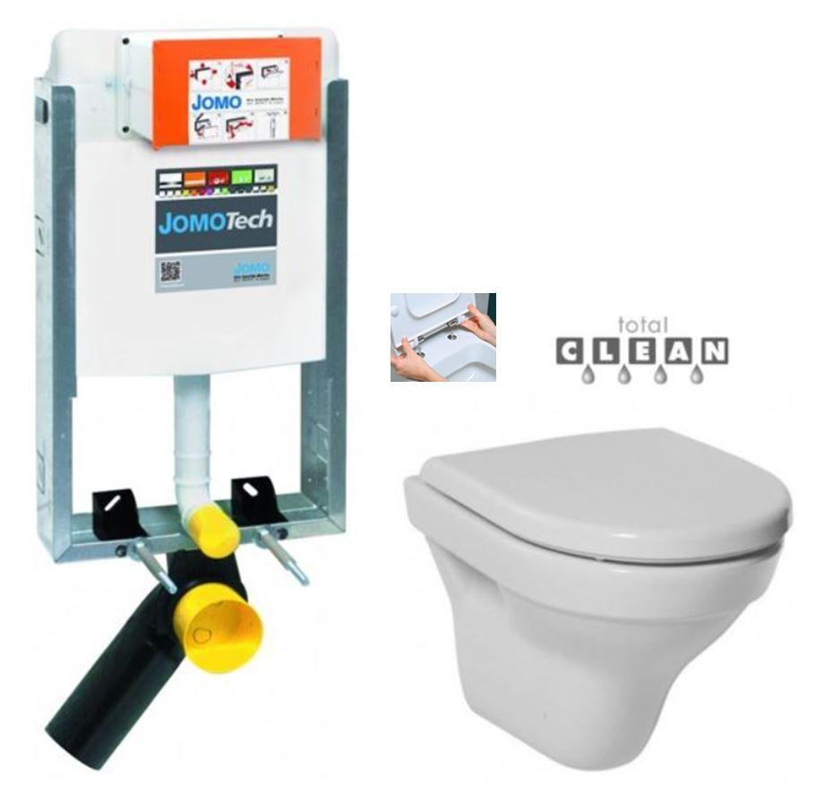 JOMO modul pre zamurovanie bez sedátka + WC JIKA TIGO + SEDADLO duraplastu RÝCHLOUPÍNACIE 164-14600479-00 TI1
