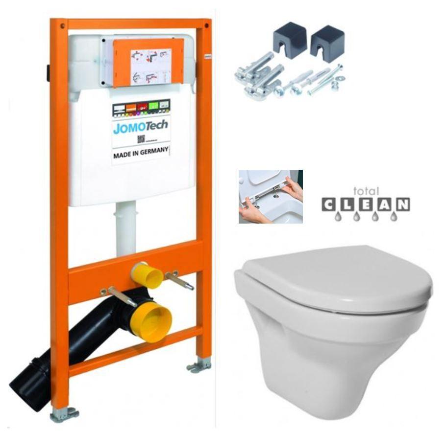 JOMOTech modul pre závesné WC bez sedátka + WC JIKA TIGO + SEDADLO duraplastu RÝCHLOUPÍNACIE 174-91100700-00 TI1