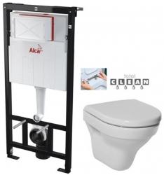ALCAPLAST Sádromodul - predstenový inštalačný systém bez tlačidla + WC JIKA TIGO + SEDADLO duraplastu RÝCHLOUPÍNACIE (AM101/1120 X TI1)