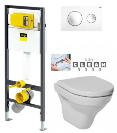 VIEGA Presvista modul DRY pre WC vrátane tlačidla Style 20 bielej + WC JIKA TIGO + SEDADLO duraplastu RÝCHLOUPÍNACIE (V771973 STYLE20BI TI1)
