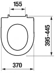 LAUFEN Rámový podomietkový modul CW1 SET s bielym tlačidlom + WC JIKA TIGO + SEDADLO duraplastu SLOWCLOSE (H8946600000001BI TI2), fotografie 14/13